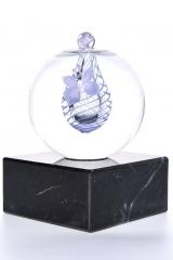 Mini-urn lila lijn €165,-