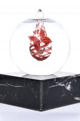 Mini-urn licht rood lijn €165,-