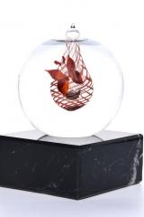 Mini-urn donker rood lijn €165,-