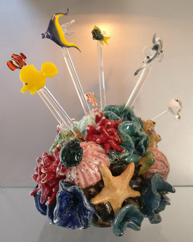 koraal met vissen