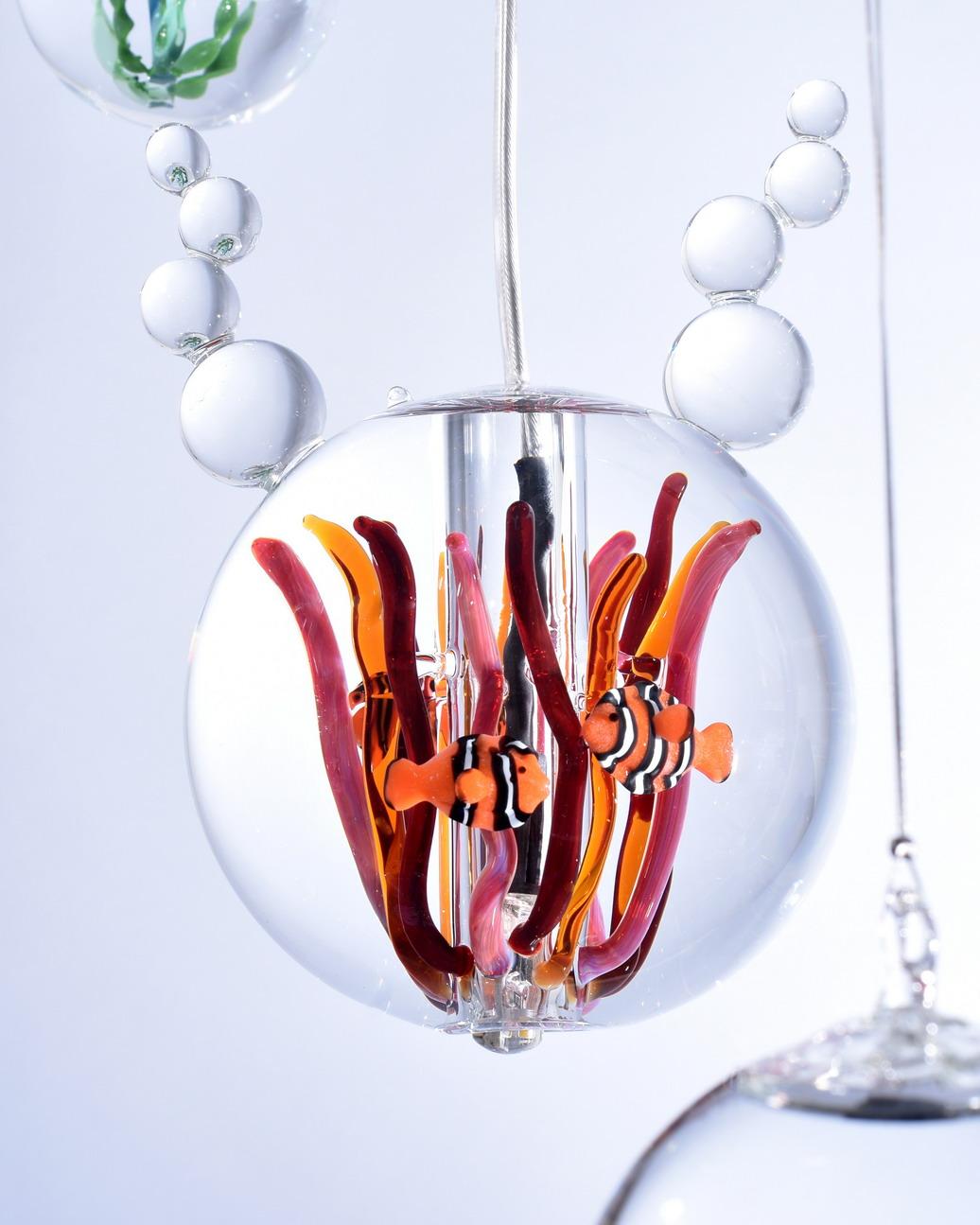 lamp rond annemoon met clownvissen